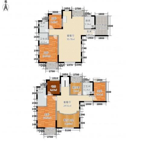 秦岭北麓5室2厅4卫1厨316.00㎡户型图