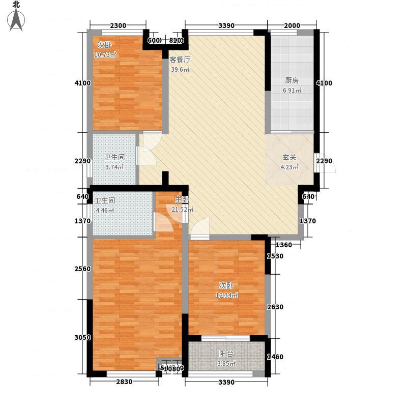 华府一品142.00㎡2/5/7#楼C1户型3室2厅2卫1厨
