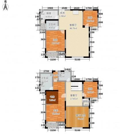 秦岭北麓4室2厅3卫1厨268.00㎡户型图