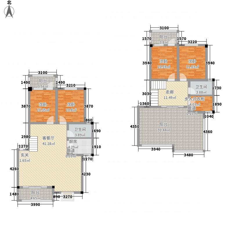 融洲风情147.86㎡14#B1B户型4室2厅2卫1厨
