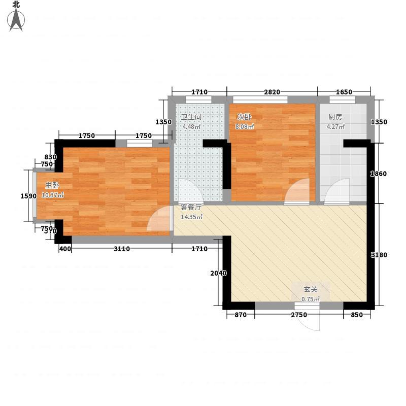 金鼎广场123.00㎡户型2室