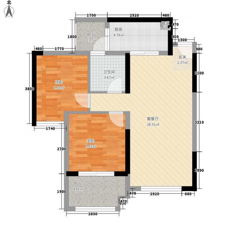 承翰陶源花园7.00㎡户型2室