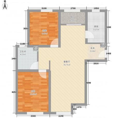 金星公寓2室1厅1卫1厨94.00㎡户型图