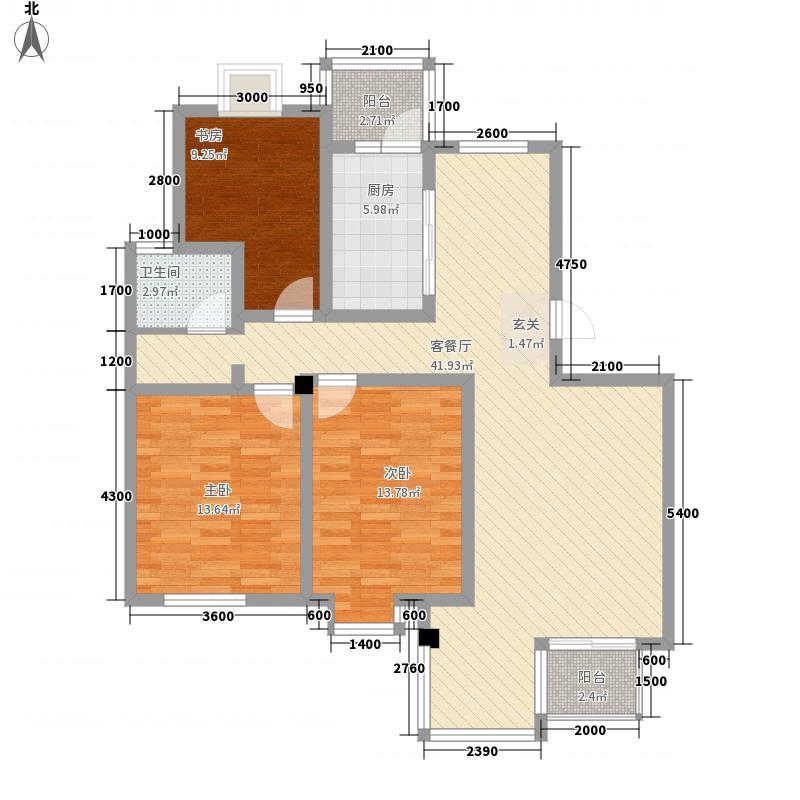 同盛公寓125.00㎡户型4室