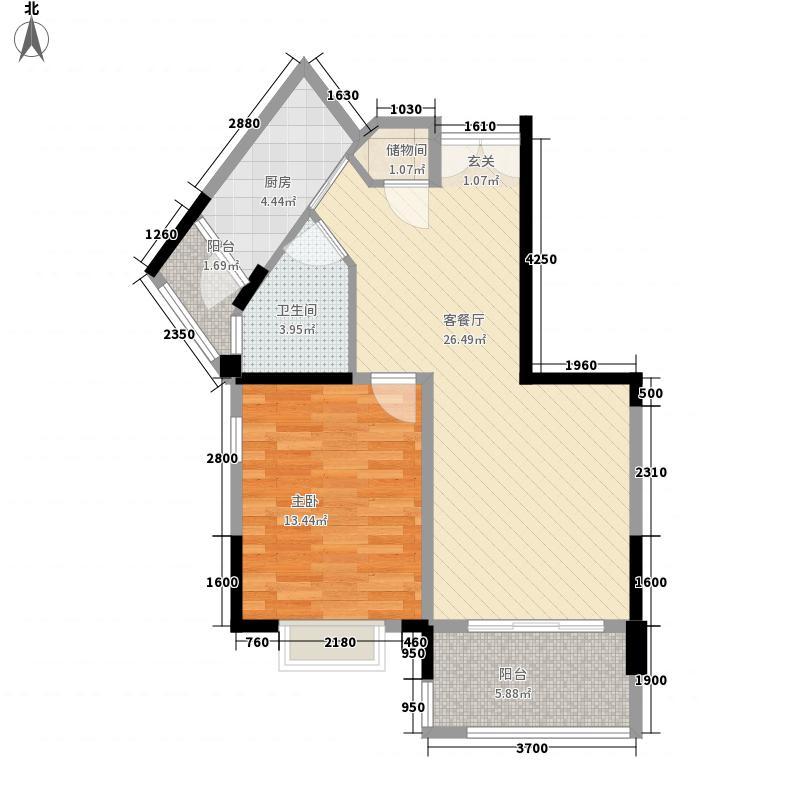 御龙天峰一期铂庭组团12号楼标准层A-1户型