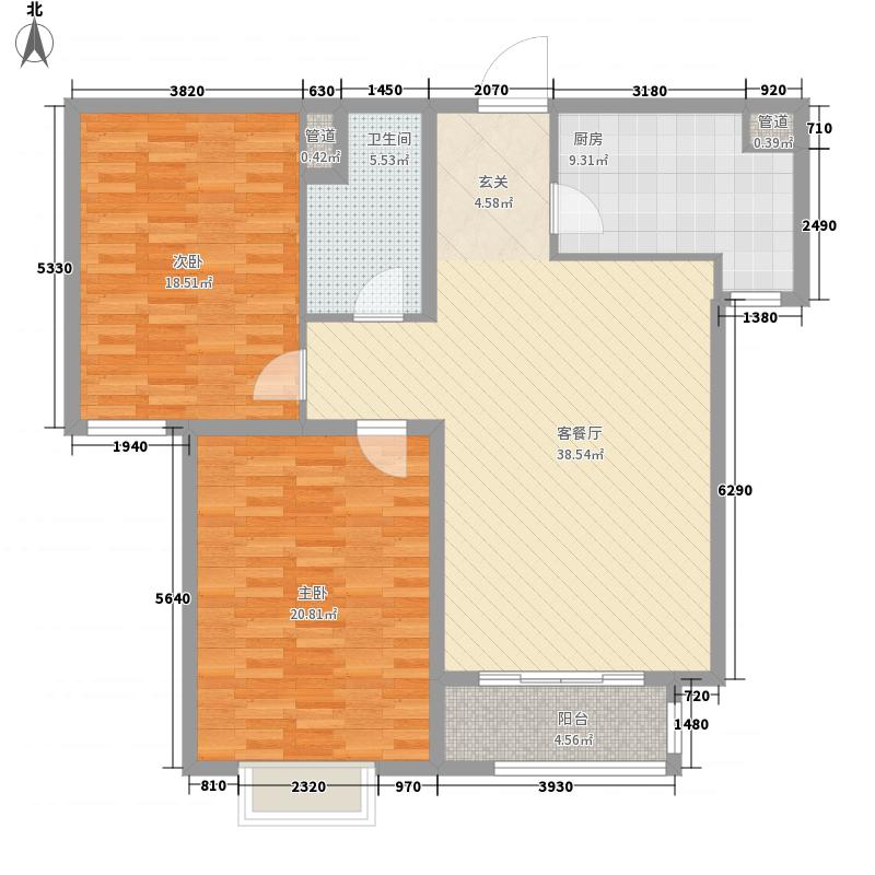 浩海丰太花园137.00㎡户型3室