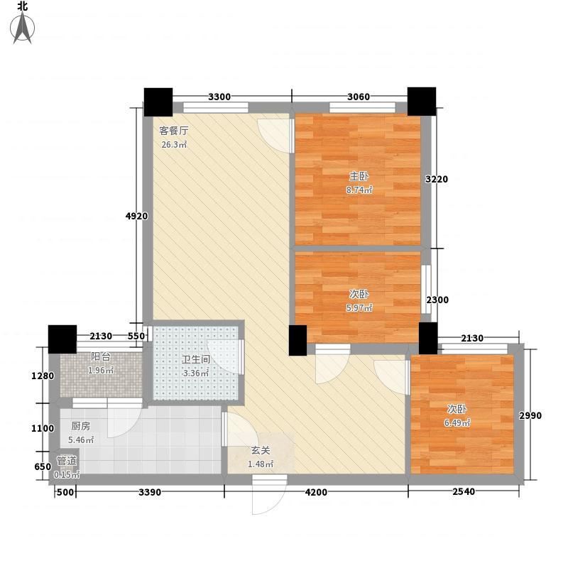 东原亲亲里1期5号楼标准层A2户型
