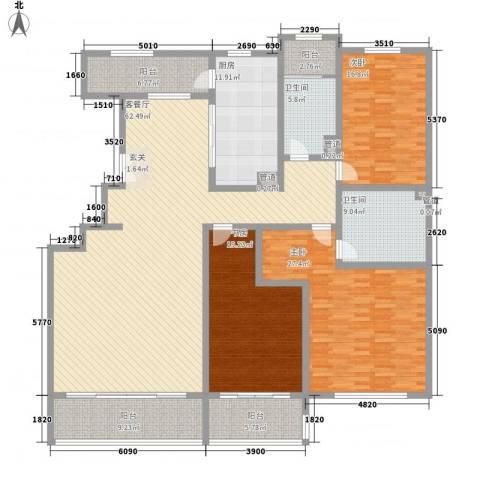煤机厂宿舍3室1厅2卫1厨252.00㎡户型图