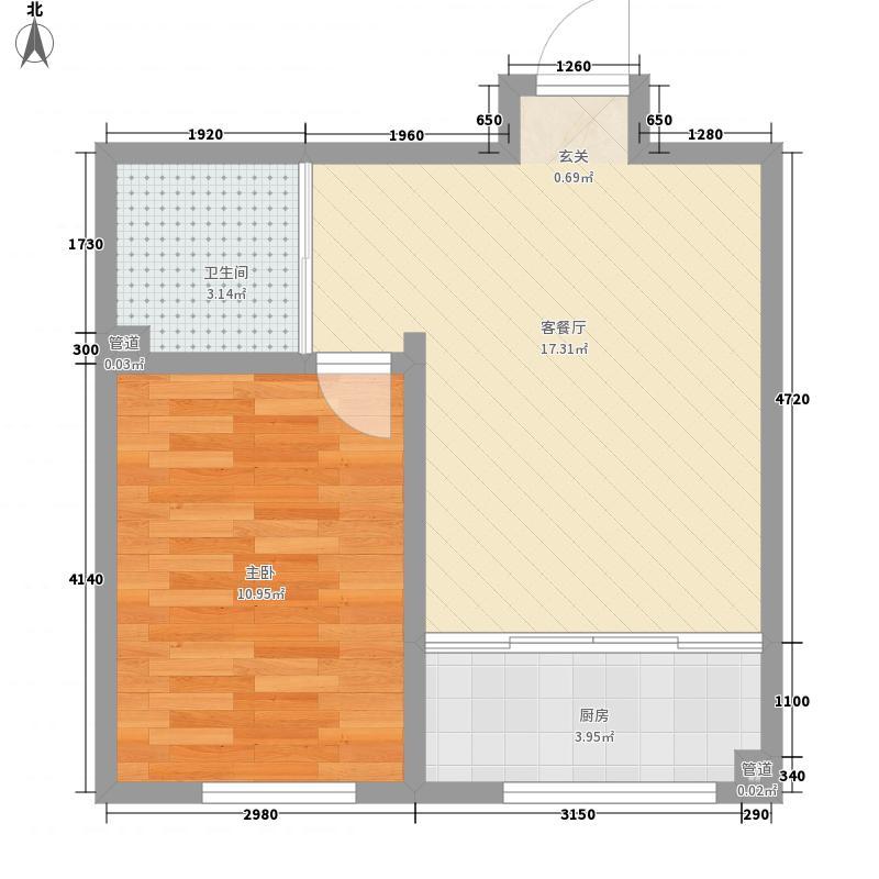 九合・东粮广场5.50㎡A3户型1室1厅1卫