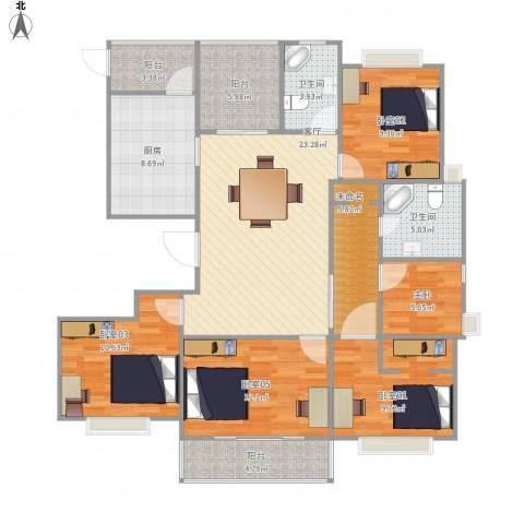 华秋路349弄保利叶之林19号14011室1厅2卫1厨147.00㎡户型图