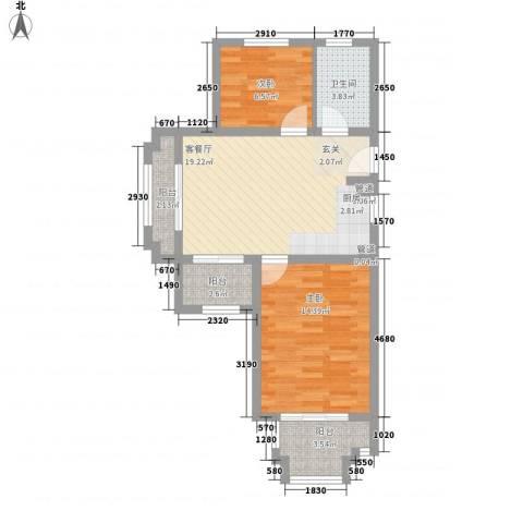 国轩雅典娜2室1厅1卫0厨78.00㎡户型图