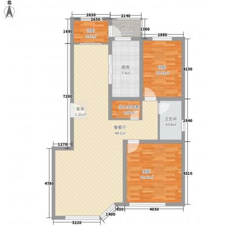 威尼斯花园3室1厅1卫1厨101.86㎡户型图