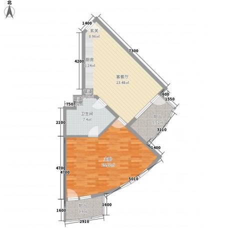 御庭春MOM∧白金海岸公寓1室1厅1卫0厨65.65㎡户型图