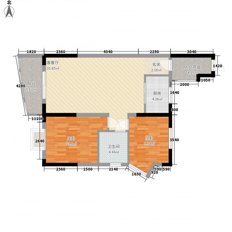 九天国际广场3.00㎡户型2室2厅1卫1厨