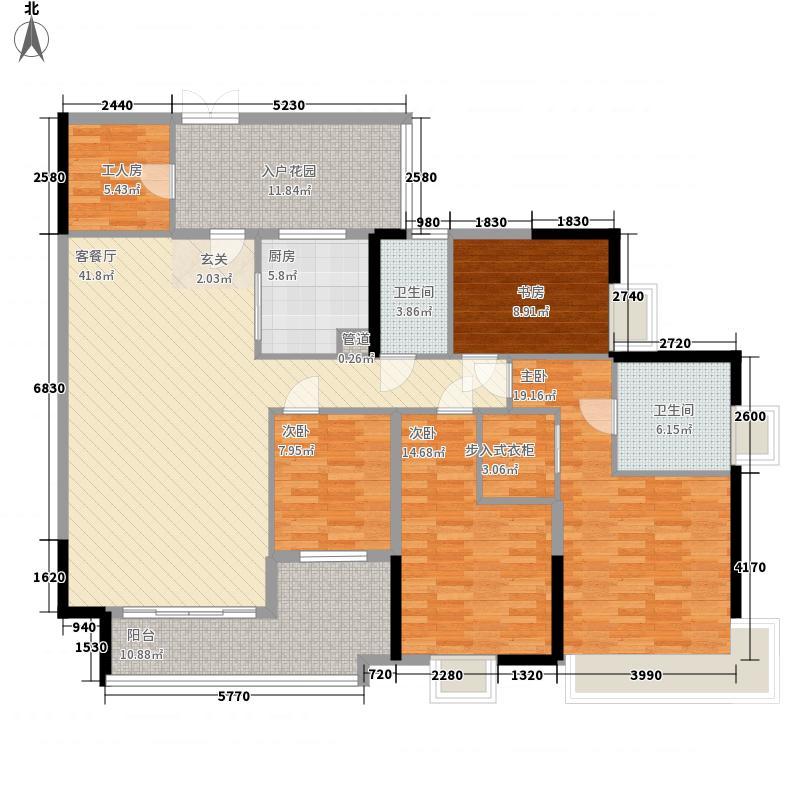 中海锦榕湾172.00㎡J2栋01单元户型5室2厅2卫1厨