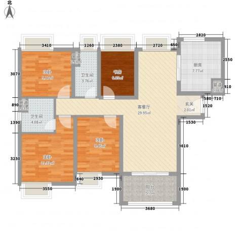 中海寰宇天下4室1厅2卫1厨102.00㎡户型图