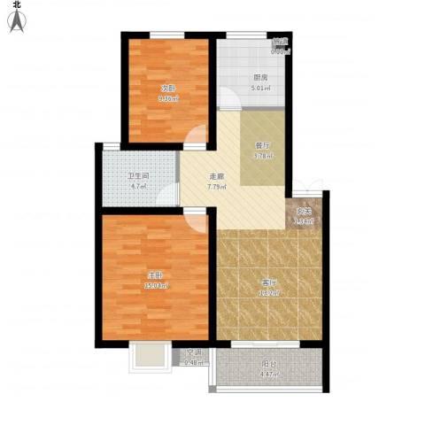 旺运花园2室1厅1卫1厨94.00㎡户型图