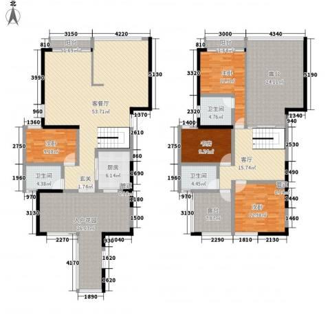 国际邮轮城一期4室2厅3卫1厨277.00㎡户型图