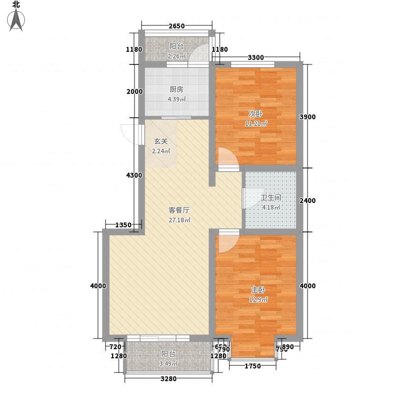 博雅馨园82.00㎡博雅馨园2室户型2室