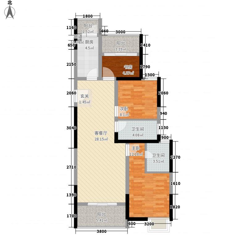万达广场32216.61㎡B3户型2室2厅2卫1厨
