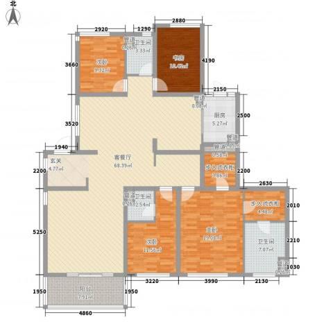金色家园4室1厅3卫1厨220.00㎡户型图
