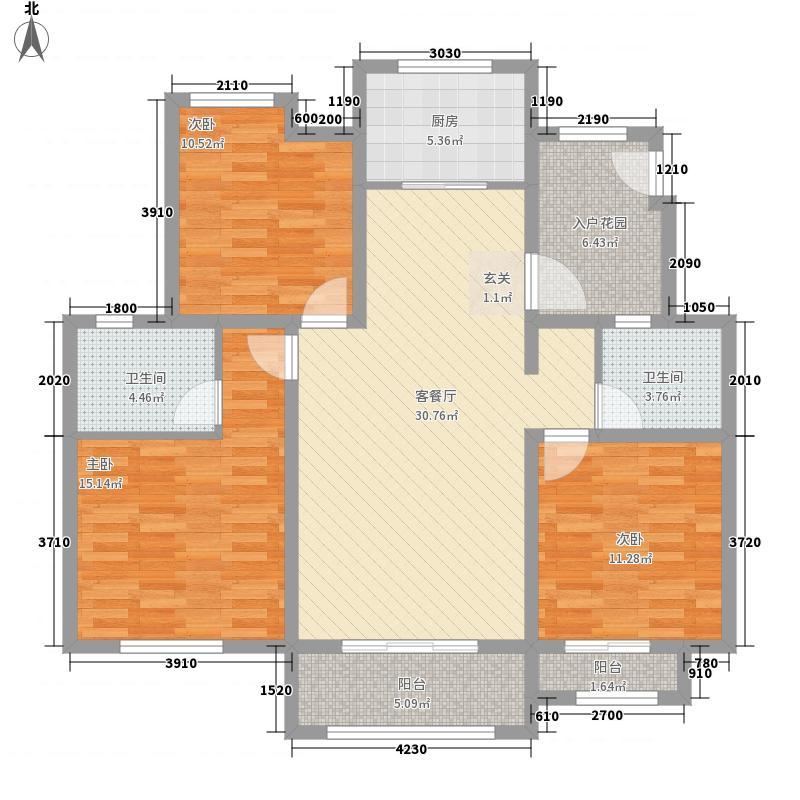 天圆养生苑122.18㎡D户型