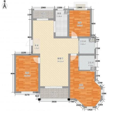 仁和英伦皇家花园3室1厅2卫1厨137.00㎡户型图