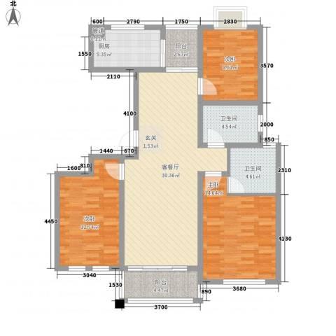 仁和英伦皇家花园3室1厅2卫1厨131.00㎡户型图