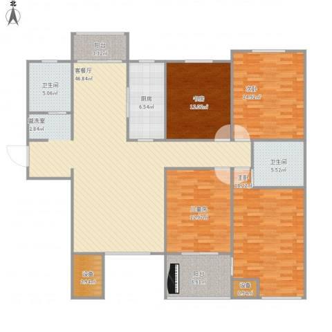 万科新里程4室1厅4卫1厨183.00㎡户型图