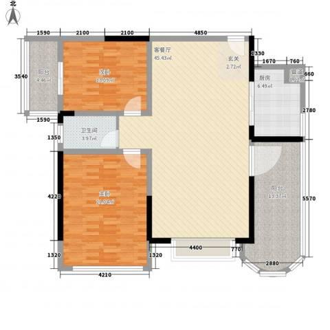 金裕大厦2室1厅1卫1厨152.00㎡户型图