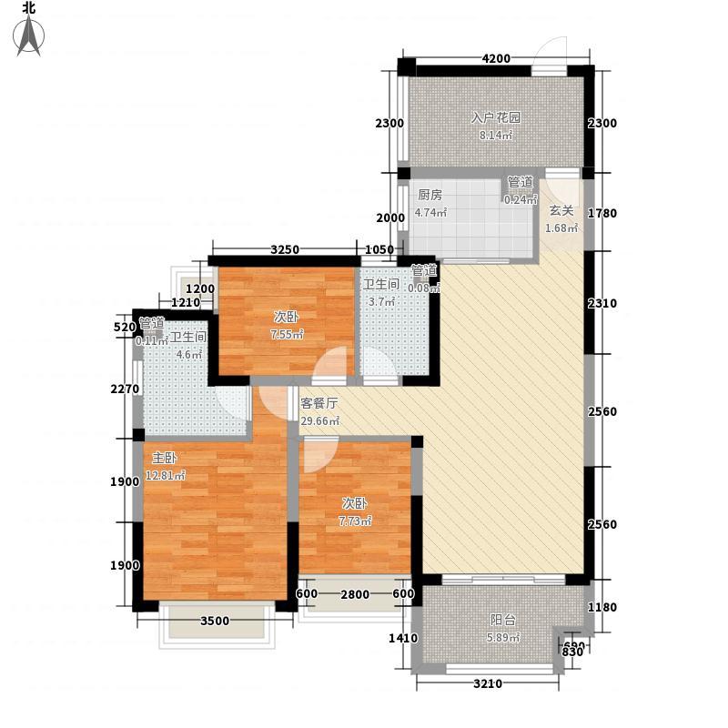 恒隆・御景山庄18.00㎡3/4栋02户型3室2厅2卫1厨