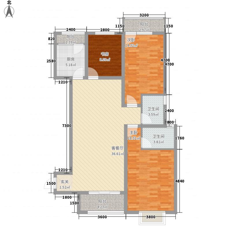 京海湖综合楼132.83㎡A-1a户型