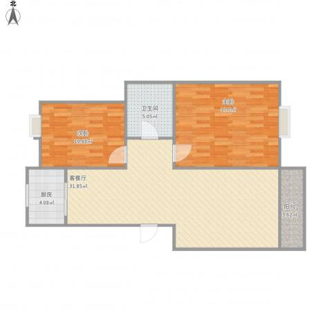 海信盈城2室1厅1卫1厨98.00㎡户型图