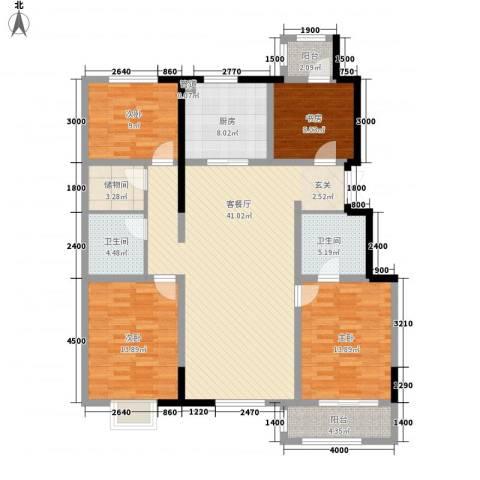 �林4室1厅2卫1厨163.00㎡户型图