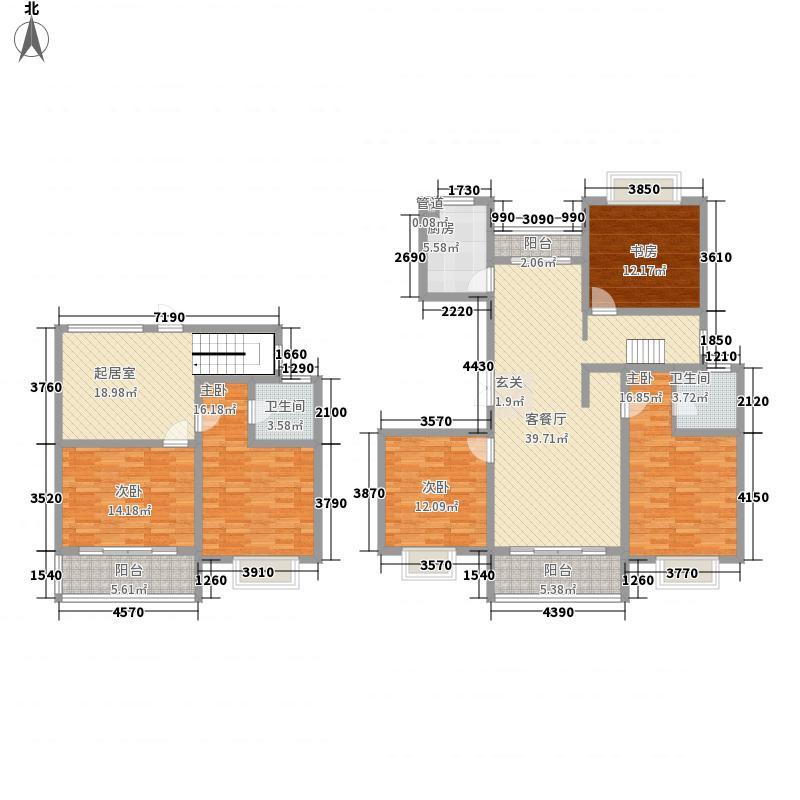 香江华廷227.42㎡复式户型5室2厅2卫1厨