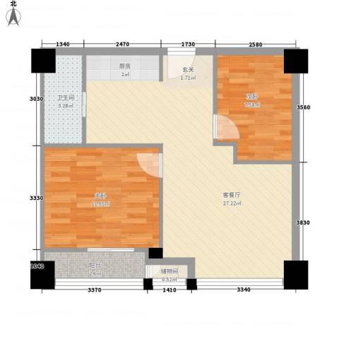 锦绣公寓2室1厅1卫0厨75.00㎡户型图