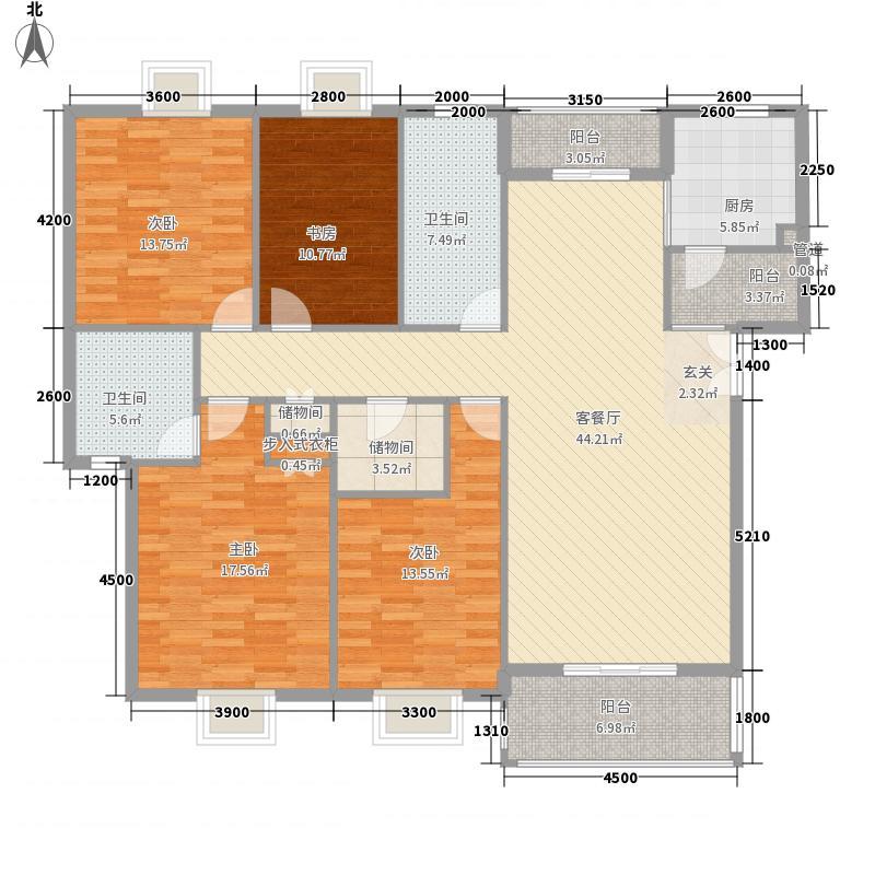 名流人和天地160.06㎡名流人和天地户型图一期1栋标准层A1户型图4室2厅2卫1厨户型4室2厅2卫1厨
