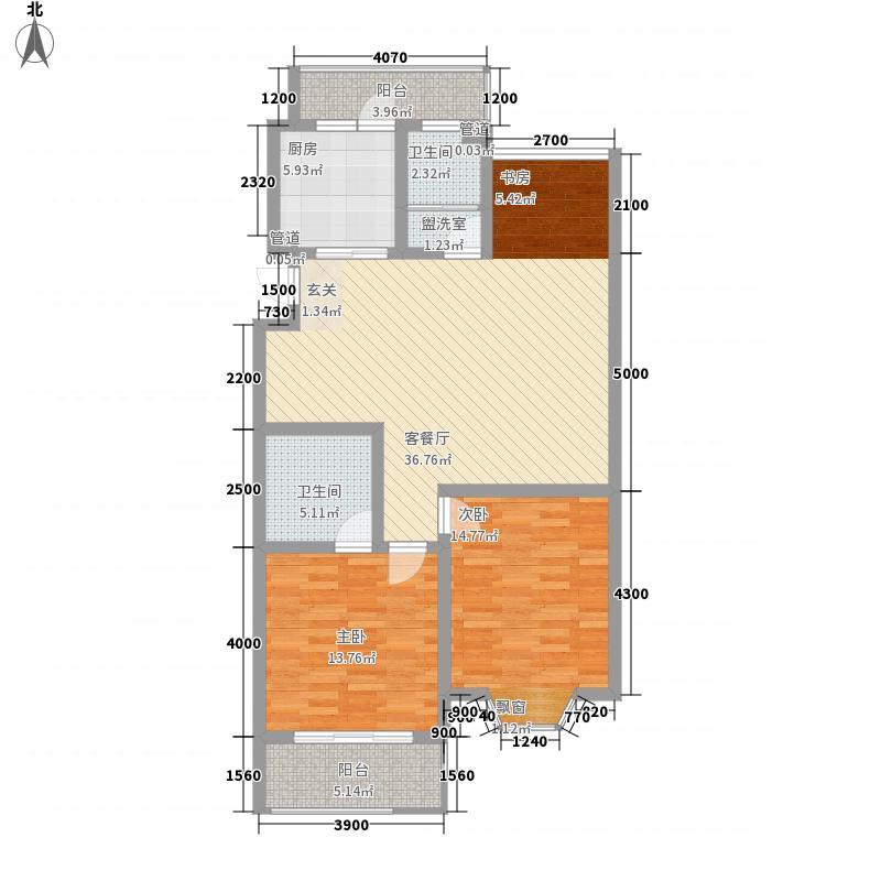 信发第五城市114.80㎡2号楼C1户型2室2厅2卫