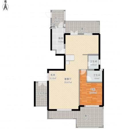 厦门新景缘1室1厅2卫1厨176.00㎡户型图