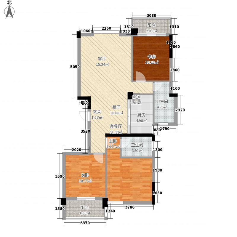 馨庭花园125.00㎡户型3室