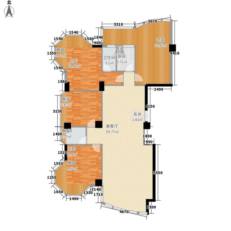 领秀中山176.00㎡户型4室