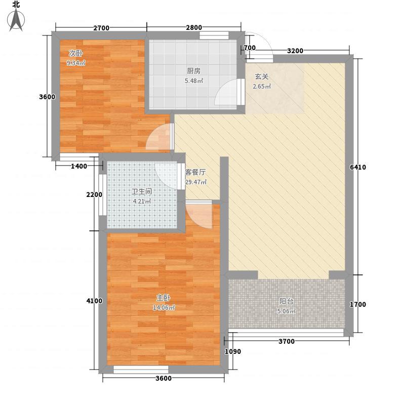 金方・丽水园83.00㎡户型2室1厅1卫1厨