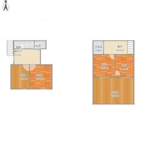 永林新村4室2厅2卫1厨139.00㎡户型图