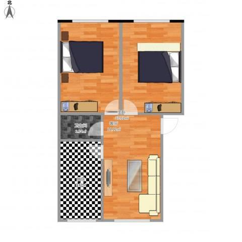 中环11区1室1厅1卫1厨66.00㎡户型图