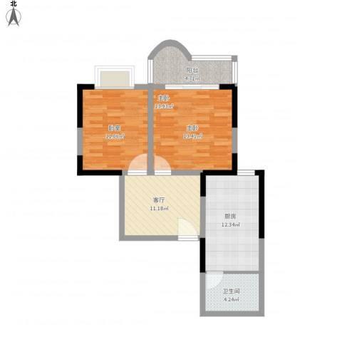 枫丹苑1室1厅1卫1厨78.00㎡户型图