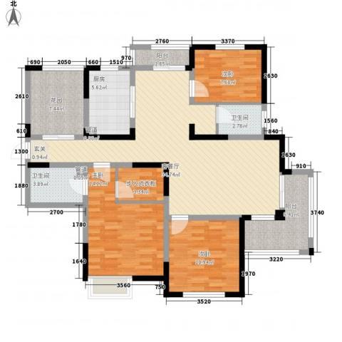 君临华庭3室1厅2卫1厨145.00㎡户型图