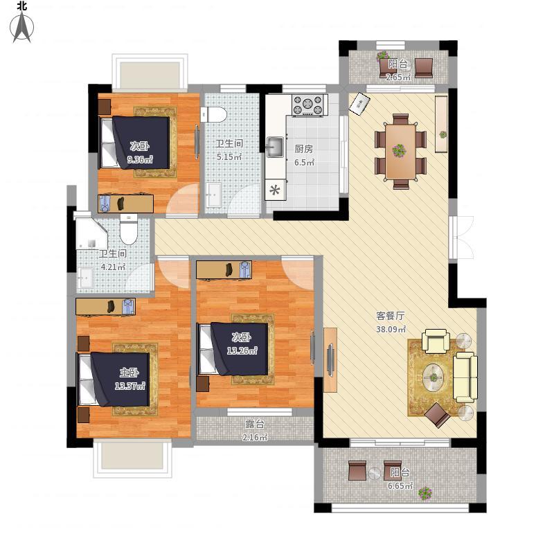 128方A5/B5户型两室两厅