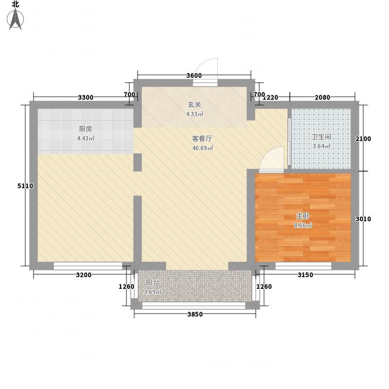 隆达丽景世纪城63.00㎡A3户型2室1厅1卫