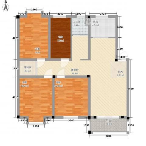 闽泰城市花园4室1厅1卫1厨138.00㎡户型图