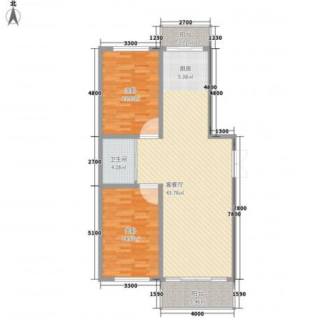 中新花园2室1厅1卫0厨119.00㎡户型图